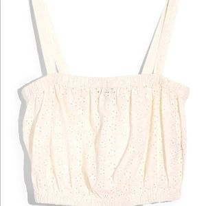 Madewell Eyelit crop top size M